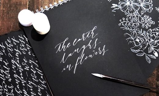 Life after breakfast calligraphy writing