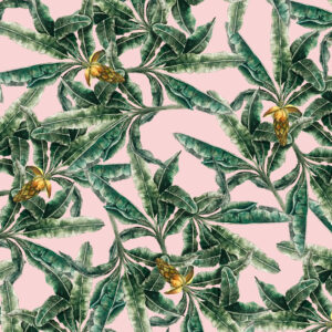 WENYA Watercolored Abaca plant pattern for Wenya.ph scarves. 2017.