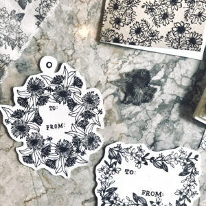 GARDEN FLOWERS STAMPS Collaborated with @christine.herrin/@everydayexplorersco to create my Garden Flowers clear stamps set that can be used to create patterns. 2017.