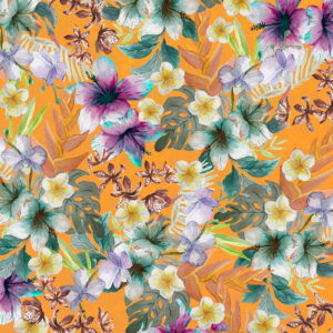 TOBLERONE Tropical floral pattern for Toblerone's special edition sleeve for Mother's Day. 2018.